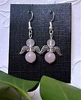 Náušnice - Náušnice anjeli z ruženínu - 12341187_