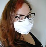 Rúška - Ochranné rúško na tvár s drôtikom - dvojvrstvové - skladom  - 12341611_