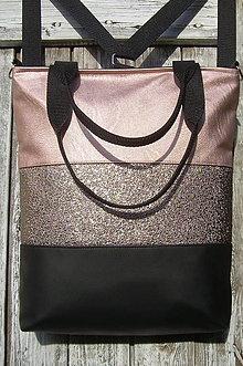 """Batohy - """"backpack 3in1- old rose&black"""" - Batoh & taška cez rameno - 12343267_"""