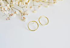 Náušnice - Zlaté náušnice- kružky - 12345824_