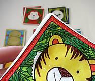 Hračky - Textilné pexeso  (Zvieratká z exotiky) - 12346352_