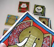 Hračky - Textilné pexeso  (Zvieratká z exotiky) - 12346356_