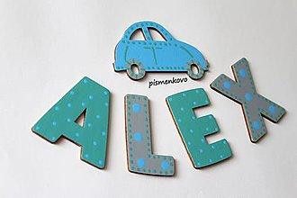 Tabuľky - ALEX Meno pre malého chlapčeka na stenu - 12347171_