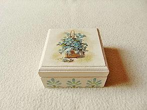Krabičky - Drevená krabička - 12345040_