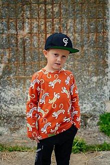 Detské oblečenie - Detská mikina - LEO BRICK (organic) - 12348718_