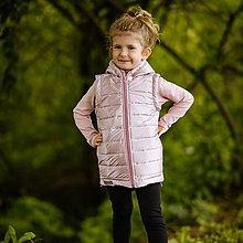 Detské oblečenie - Detská jarná vesta - staroruzova - 12348819_