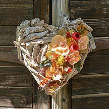 Dekorácie - Drevené srdce na Dušičky - 12346054_