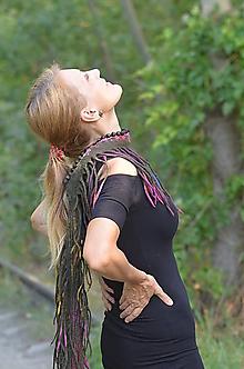 Šály - Plstený šál- samé strapce - 12348609_