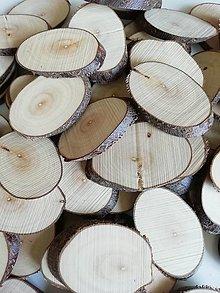 Dekorácie - Drevené plátky oválne (veľkosť 3) - 12345900_