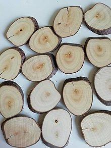 Dekorácie - Drevené plátky oválne (veľkosť 4) - 12345904_