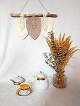 Dekorácie - Makramé Lístky - Domov (Béžová) - 12345006_