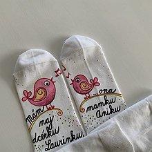 Obuv - Maľované ponožky pre najlepšiu MAMU, ktorá má najlepšiu dcérku - 12344403_
