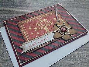 Papiernictvo - ...pohľadnica vianočná s vločkou... - 12346883_