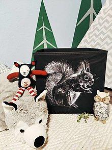 Detské doplnky - Na boxe maľované- veverička - 12348161_