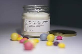 Svietidlá a sviečky - Sojova sviecka Žuvačka - antialergent - 12347849_