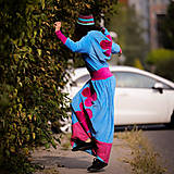 Šaty - Origo šatoš ňuňu maxi kvety  - 12347609_