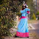 Šaty - Origo šatoš ňuňu maxi kvety  - 12347615_