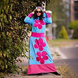 Šaty - Origo šatoš ňuňu maxi kvety  - 12347617_