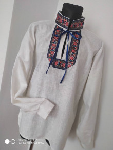 Oblečenie - Pánska ľanová košeľa - 12345210_