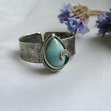Prstene - Prsteň s larimarom § LULU § - 12351962_