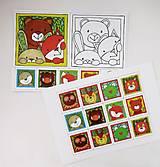 Hračky - Pexeso papierové (Zvieratká z lesnej tône) - 12349560_