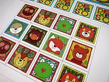 Hračky - Pexeso papierové (Zvieratká z lesnej tône) - 12349561_