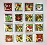 Hračky - Pexeso papierové (Zvieratká z lesnej tône) - 12349562_