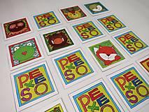 Hračky - Pexeso papierové (Zvieratká z lesnej tône) - 12349563_