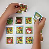 Hračky - Pexeso papierové (Zvieratká z lesnej tône) - 12349565_