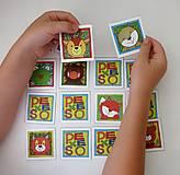 Hračky - Pexeso papierové (Zvieratká z lesnej tône) - 12349566_