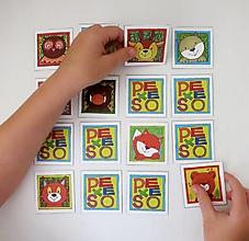 Hračky - Pexeso papierové (Zvieratká z lesnej tône) - 12349564_