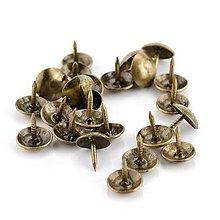 Komponenty - Ozdobné kovové cvoky- sada - 12352470_