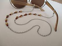 Iné šperky - Retiazka na okuliare - minerály jaspis červený a obrázkový - chirurgická oceľ - 12350120_