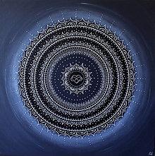 Obrazy - Mandala NEKONEČNÁ LÁSKA A ŠŤASTIE (silver) 70 x 70 - 12351386_