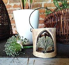 Svietidlá a sviečky - Keramická lucernička na čajovú sviečku - 12349613_