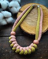 Náhrdelníky - Točená zmrzlina - lanový náhrdelník - 12352650_