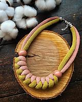Náhrdelníky - Točená zmrzlina - lanový náhrdelník - 12352651_