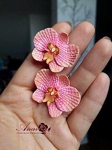 Náušnice - Náušnice Orchidey - 12349545_