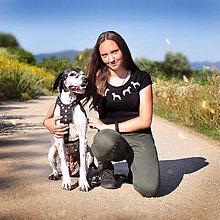 Tričká - Tričko Dog Viper - biele psíky - 12349637_
