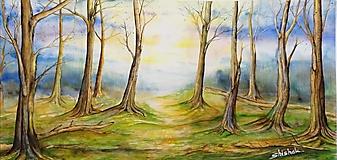 Obrazy - Ranný les (originál) - 12350668_