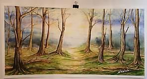 Obrazy - Ranný les (originál) - 12350672_