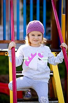 Detské čiapky - Čiapka pre malú slečnu - 12349224_