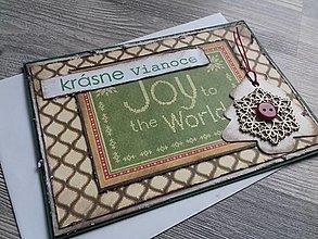 Papiernictvo - ...pohľadnica vianočná s vločkou... - 12349957_