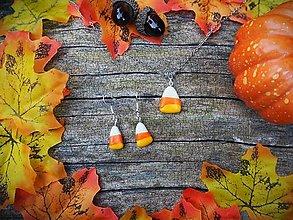 Sady šperkov - Candy corn halloweenske sladkosti - 12352656_