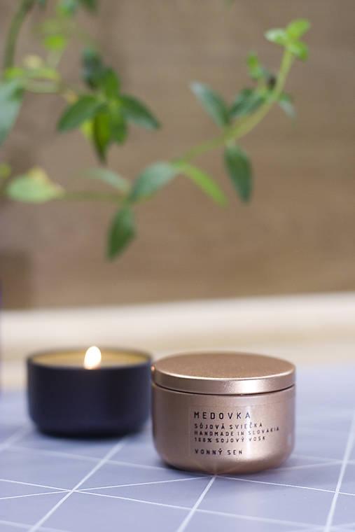 LIMITOVANÁ EDÍCIA - Sojová sviečka - Medovka indická citronela