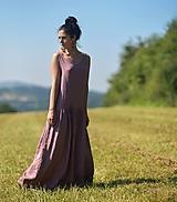 Šaty - Maxi lněné Roses Séchées - 12351381_
