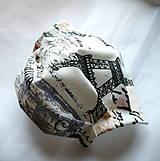 Rúška - Ochranné rúško na tvár s drôtikom - dvojvrstvové - 12352174_