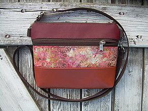 "Taštičky - ""mini city bag 3in1- vine red&orange"" -ľadvinka+taška - 12350499_"