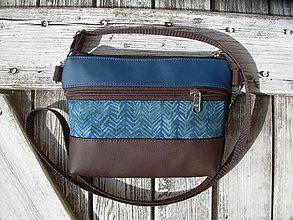 """Taštičky - """"mini city bag 3in1- blue&brown"""" -ľadvinka+taška - 12351352_"""