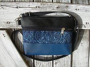 """Taštičky - """"mini city bag 3in1- blue&black"""" -ľadvinka+taška - 12351377_"""